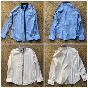 2Pk Express Men's Dress Shirt Fitted M